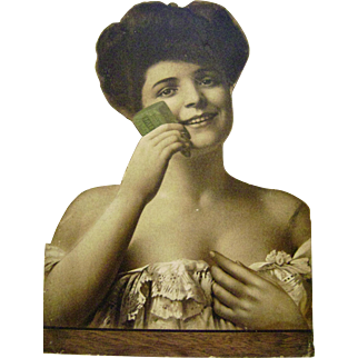 Vintage Die Cut Cardboard Palmolive Soap Sign