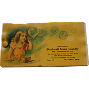 Vintage Blackwell Steam Laundry Celluloid Blotter