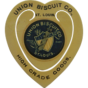 Vintage Celluloid Union Biscuit Co. Bookmark