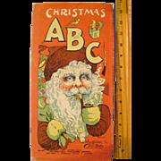 Linen Saalfield Christmas A B C Book