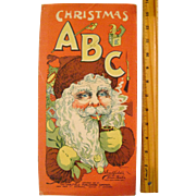 Linen Saalfield Christmas A B C Book