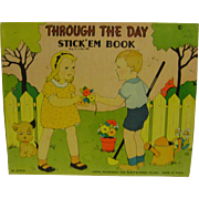 Vintage Through the Day Stick'em Book
