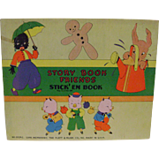 Vintage Story Book Friends Stick'em Book