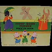 Vintage Story Book Friends Stick'em Book