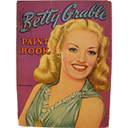 Vintage Betty Grable Paint Book