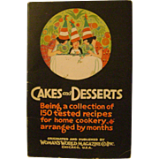 Vintage Cakes and Desserts Booklet
