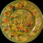 Vintage Tin Peter Rabbit Plate