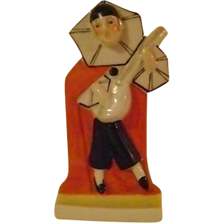 Vintage Harlequin Toothbrush Holder