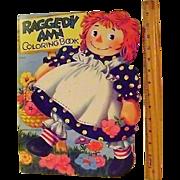 Vintage 1951 Raggedy Ann Coloring Book
