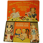 Vintage Bobbsey Twins Paper Dolls and Activity Books in Orginal Box