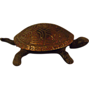 Vintage Metal Turtle Counter Bell