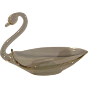 Clear Glass Swan Dish