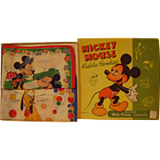 Vintage Boxed Mickey Mouse Kiddie Hankies