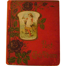 Vintage Post Card Album with Early Post Cards
