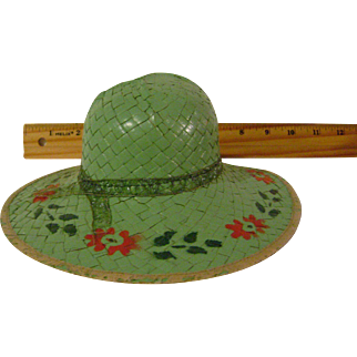 Vintage Sample or Doll Straw Hat