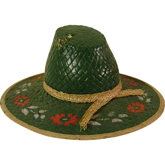 Vintage Straw Sample or Doll Hat