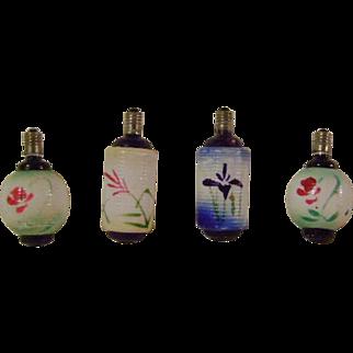 4 Vintage Japanese Lantern Type Christmas Lights