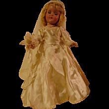 Hard Plastic 14 inch R & B Bride Doll