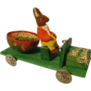Vintage Easter Bunny & Car