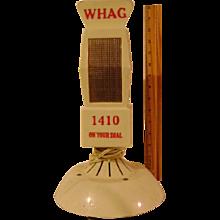 Vintage Plastic WHAG Microphone Shaped Radio
