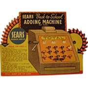 Vintage Sears Robuck and Co.  Adding Machine Trade Card