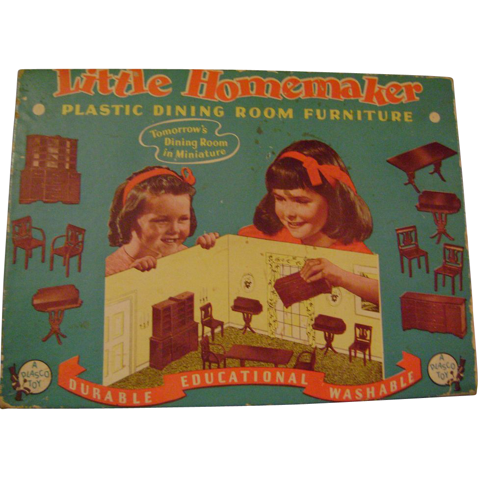 Vintage Little Homemaker Dining Room Plastic Dollhouse