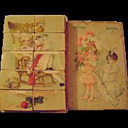 Vintage Picture Blocks Puzzle