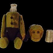 Antique Schuco 8 inch Flask Monkey