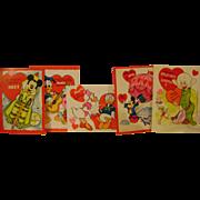 5 Vintage Disney Valentines