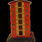 Vintage Tin Automat Savings Bank