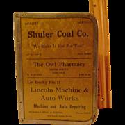 Vintage Nickel Edged Menu