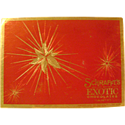 Vintage Schrafft's Christmas Candy Box