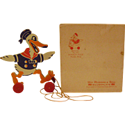 Vintage Donald Duck Figure and Original Box For Silverplate Napkin Ring