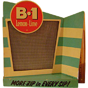 Vintage Cardboard B-1 Lemon Lime Soda Store Display