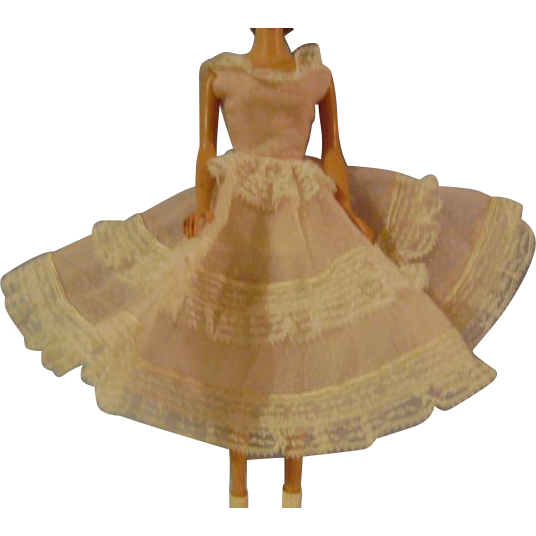 Vintage barbie Doll Dress/Under slip and Pants