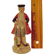 Vintage 5 inch Porcelain  Colonial Man Tape Measure
