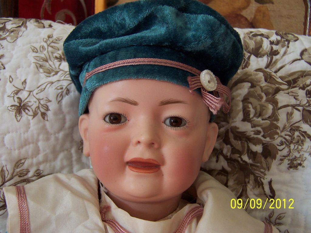 "German 15"" K&H Baby Doll on Bent Limb Compo Body"