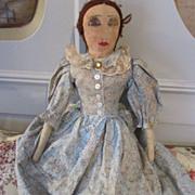 Sweet Vintage Cloth Doll - Nice Primitive Look - Red Tag Sale Item
