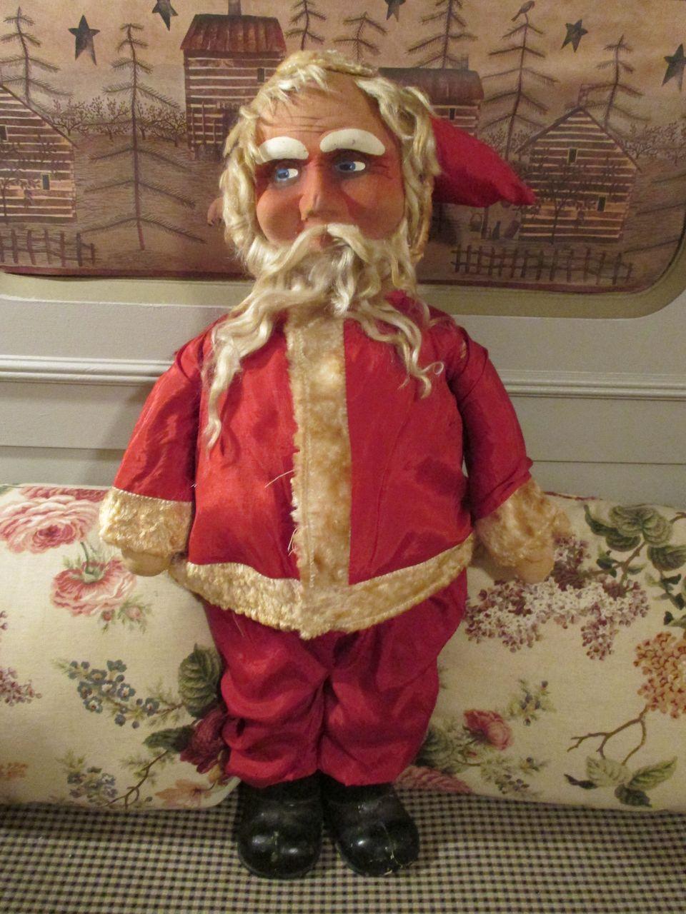 Antique Mask Faced Santa Doll