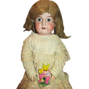 Large Antique German Bisque Head Doll