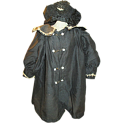 Antique French Doll's Coat with Matching Bonnet - Perfect for your French Fashion, Jumeau or Bru