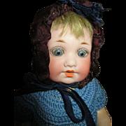 Darling Googlie Eyes Bisque Head Doll