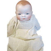 Sweet Antique German Bye Lo Baby in Christening Gown