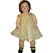 "THANK YOU ADRIENNE - All Original 1930's Effanbee 27"" Composition Mama Doll - Dressed in Original Outfit"