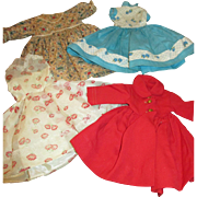 Group of 4 Vintage Fashion Doll Clothing Items