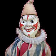 Antique Schoenhut Circus Clown - All Original - Wonderful Face Paint