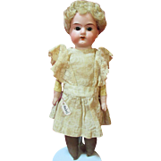 Antique German Bisque Head Doll - Pretty Face