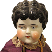 Beautiful Antique China Head Doll in Her Original Dress