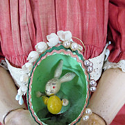 Sweet Easter Egg w/Wood Bunny Inside for you Dolls