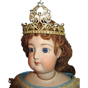 Ormolu Crown for Your Antique French Fashion Doll or Religious Figure